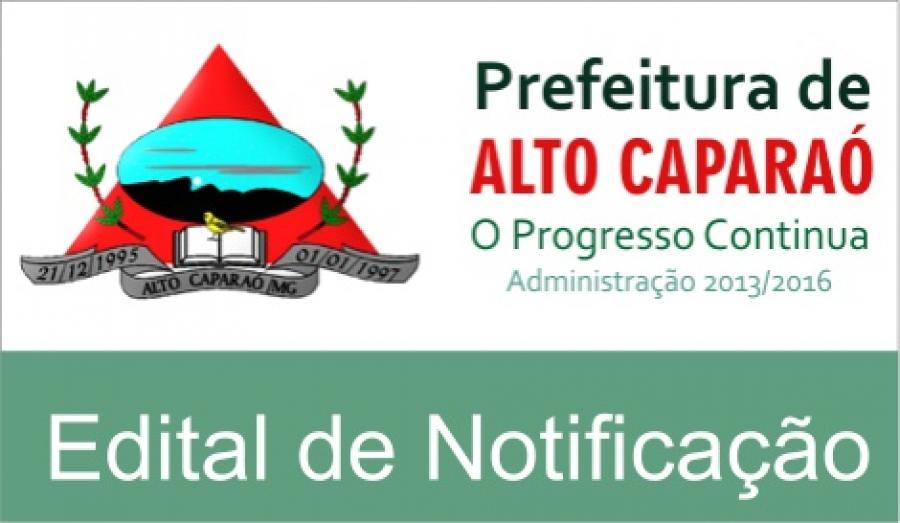 EDITAL DE NOTIFICAÇÃO DE LANÇAMENTO DE TFF /TOVL 2017